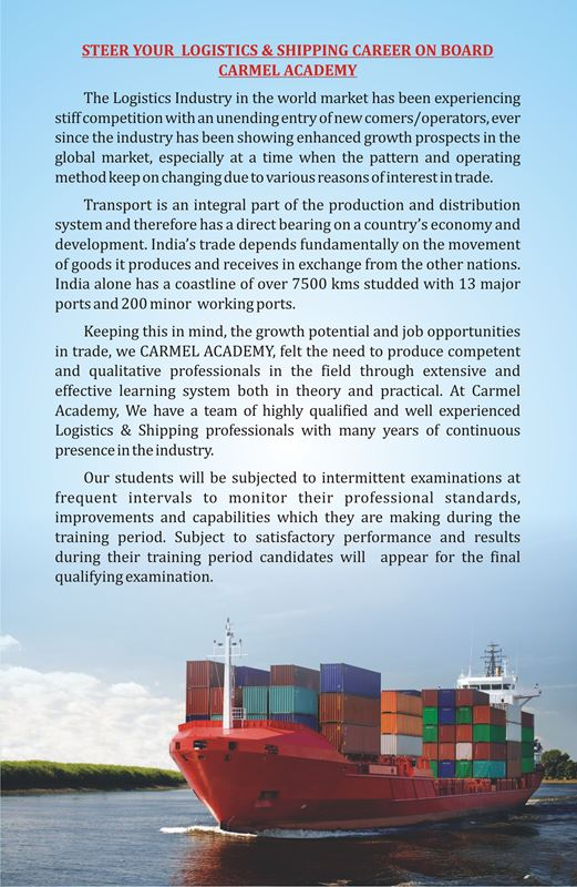 logistics and shipping college kochi