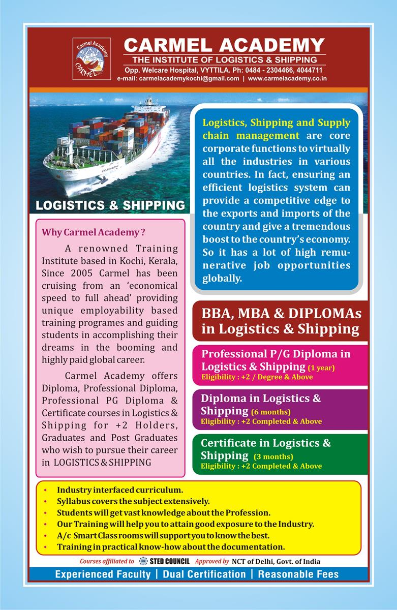 Shipping & Logistics Courses in Kochi Kerala - 🥇Carmel